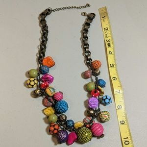 Vintage 40s Book Chain, Beads & Baubles Necklace